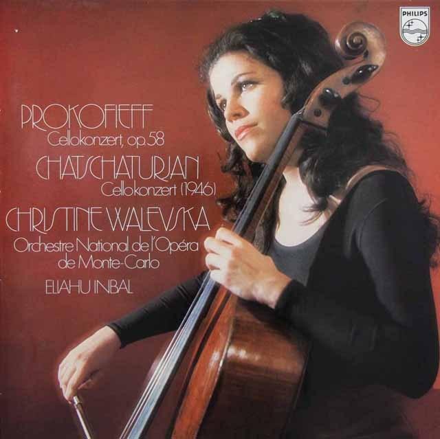ワレフスカ&インバルのプロコフィエフ&ハチャトゥリアン/チェロ協奏曲集 蘭PHILIPS 3005 LP レコード
