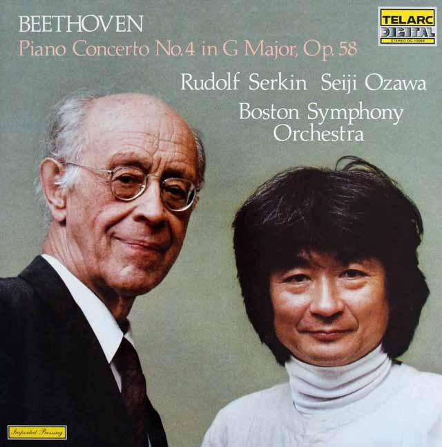 ゼルキン&小澤のベートーヴェン/ピアノ協奏曲第4番 独TELARC 2908 LP レコード