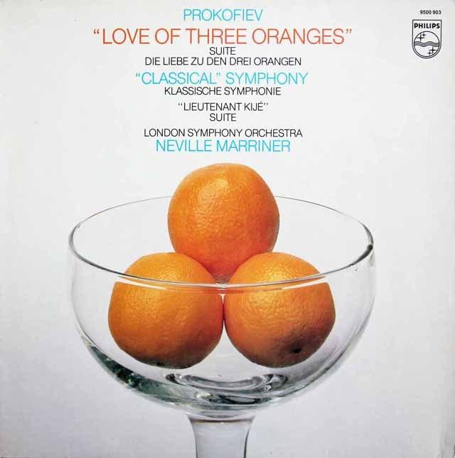 マリナーのプロコフィエフ/組曲「3つのオレンジへの恋」ほか 蘭PHILIPS 3281 LP レコード