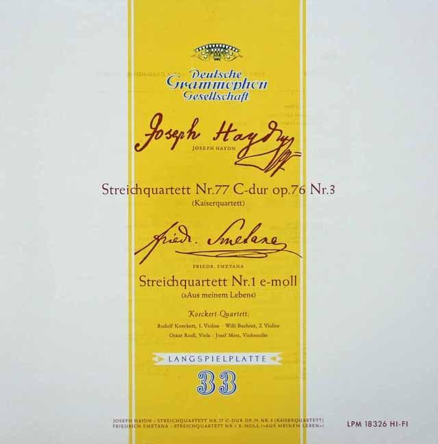 ケッケルト四重奏団のハイドン/弦楽四重奏曲第77番「皇帝」ほか 独DGG 2930 LP レコード