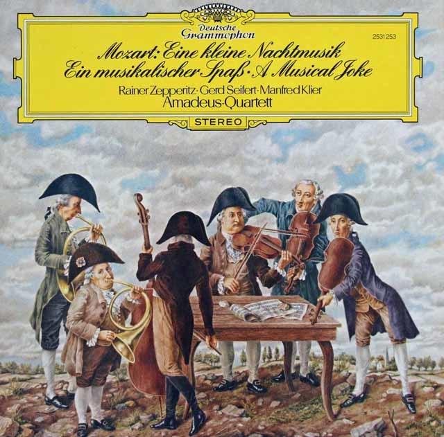 アマデウス四重奏団のモーツァルト/セレナード第13番「アイネ・クライネ・ナハトムジーク」 独DGG 3031 LP レコード