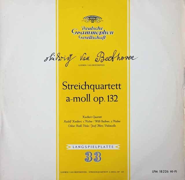 ケッケルト四重奏団のベートーヴェン/弦楽四重奏曲第15番 独DGG 3399 LP レコード