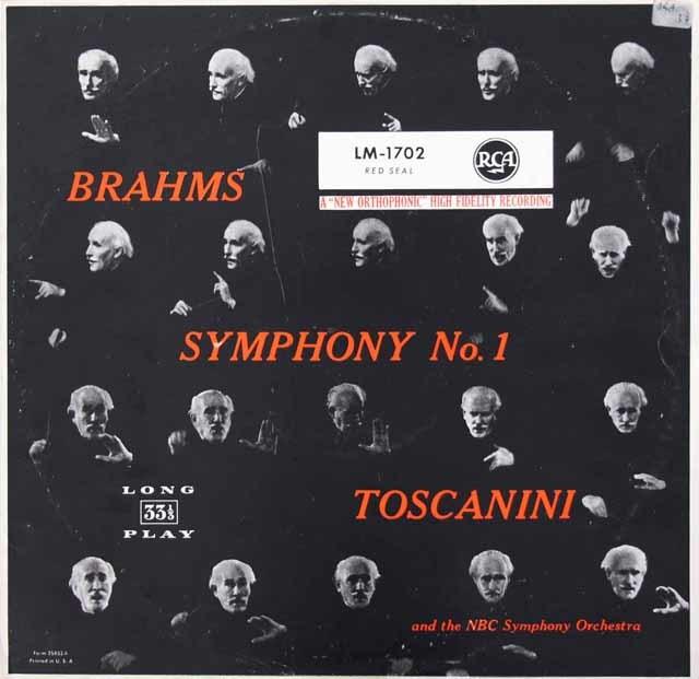 トスカニーニのブラームス/交響曲第1番 独RCA 3034 LP レコード