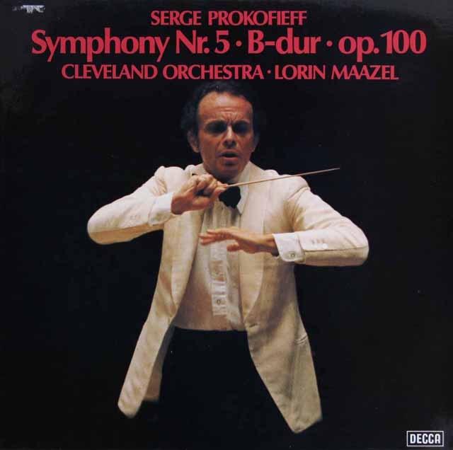 マゼールのプロコフィエフ/交響曲第5番 独DECCA 3281 LP レコード