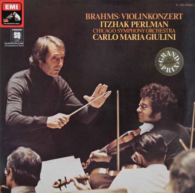 パールマン&ジュリーニのブラームス/ヴァイオリン協奏曲 独EMI 3285 LP レコード