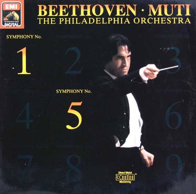 ムーティのベートーヴェン/交響曲第1&5番「運命」 独EMI 2908 LP レコード