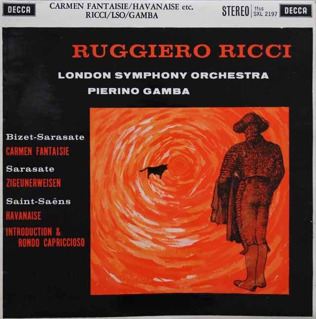 リッチ&ガンバのサラサーテ/ツィゴイネルワイゼン 英DECCA 3005 LP レコード