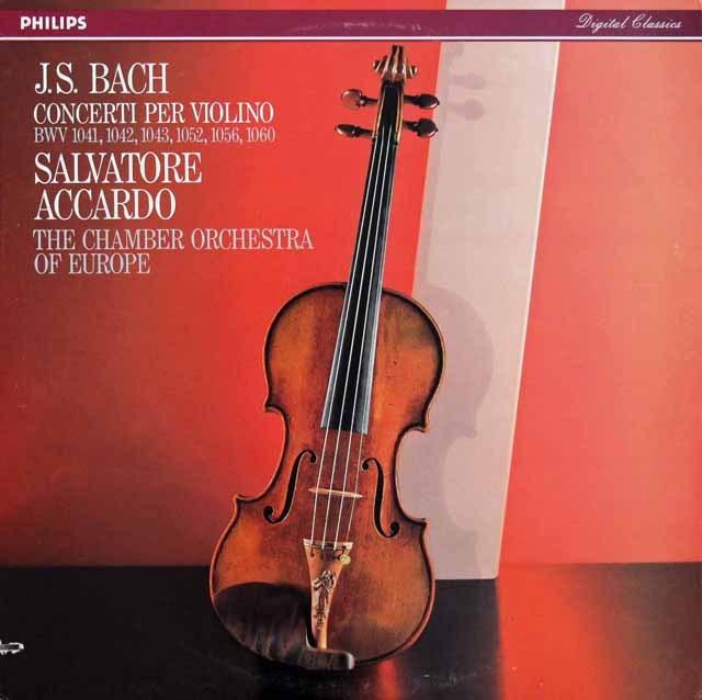アッカルドのバッハ/ヴァイオリン協奏曲集 蘭PHILIPS 2930 LP レコード