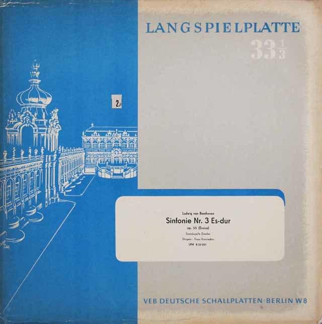 【オリジナル盤】 コンヴィチュニーのベートーヴェン/交響曲第3番「英雄」 独ETERNA 3031 LP レコード