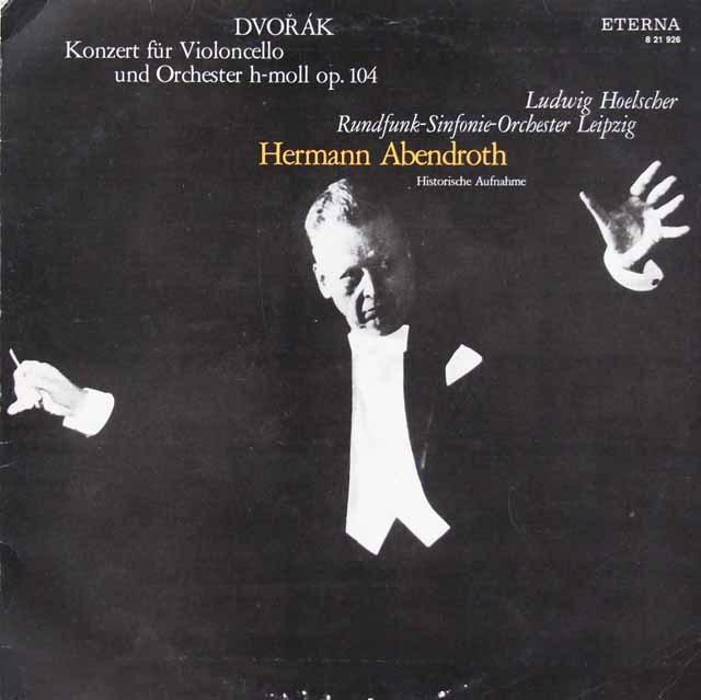 ヘルシャー&アーベントロートのドヴォルザーク/チェロ協奏曲 独ETERNA 3034 LP レコード