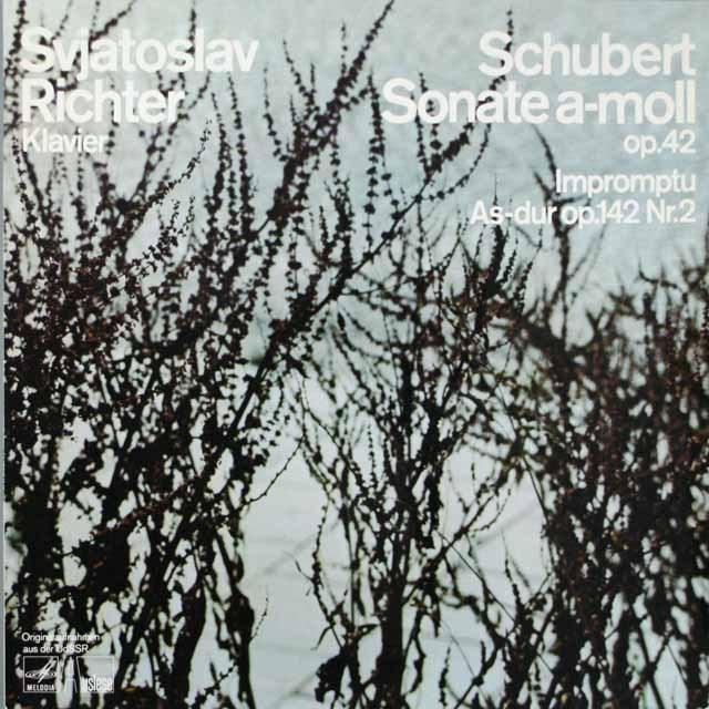 リヒテルのシューベルト/ピアノソナタ第16番ほか  独EURODISC  2631 LP レコード