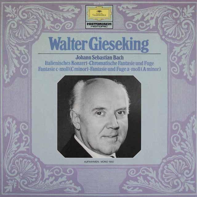 ギーゼキングのバッハ/イタリア協奏曲ほか 独DGG 2908