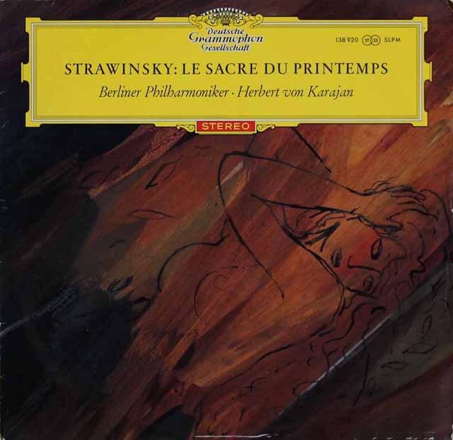 【赤ステレオ/独最初期盤】 カラヤンのストラヴィンスキー/「春の祭典」 独DGG 3285 LP レコード