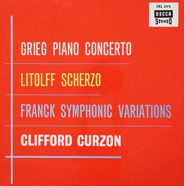 カーゾン&フィエルスターのグリーグ/ピアノ協奏曲ほか 独DECCA 3034 LP レコード