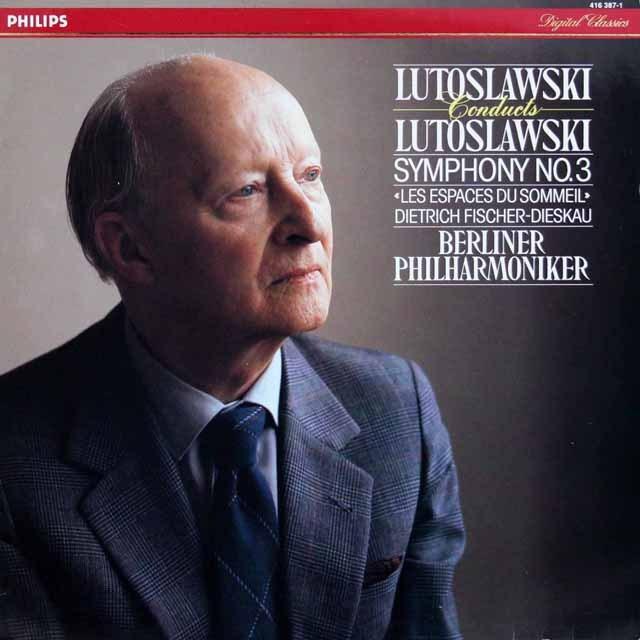 ルトスワフスキの自作自演/交響曲第3番&眠りの空間 蘭PHILIPS 3399 LP レコード