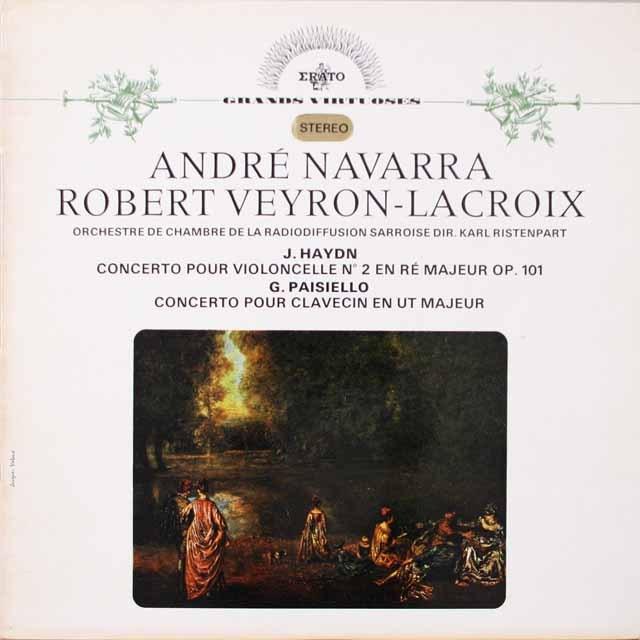 ナヴァラ、リステンパルトのハイドン/チェロ協奏曲第2番ほか 仏ERATO 3332 LP レコード