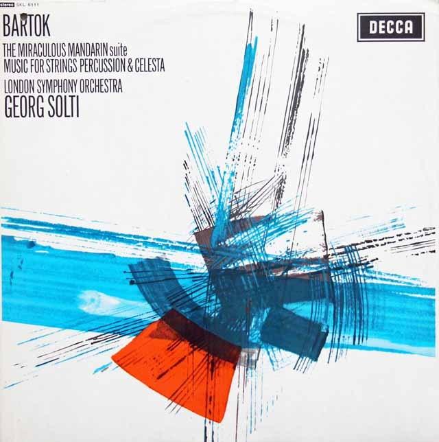 ショルティのバルトーク/「中国の不思議な役人」ほか 英DECCA 3005 LP レコード