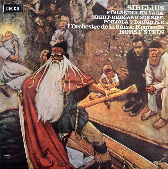 【オリジナル盤】 シュタインのシベリウス/「フィンランディア」ほか 英DECCA 3399 LP レコード