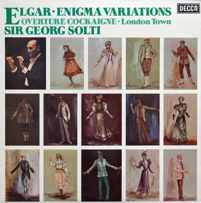 【オリジナル盤】ショルティのエルガー/エニグマ変奏曲ほか 英DECCA 3005 LP レコード