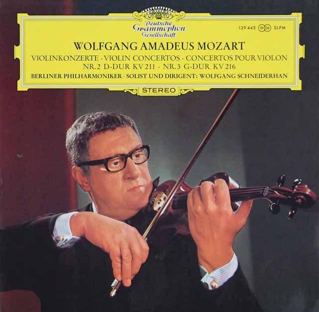 シュナイダーハンのモーツァルト/ヴァイオリン協奏曲第2&3番  独DGG 3285 LP レコード