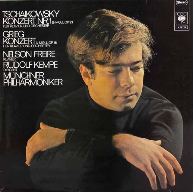 フレイレ&ケンペのチャイコフスキー&グリーグ/ピアノ協奏曲集 独CBS 3295 LP レコード