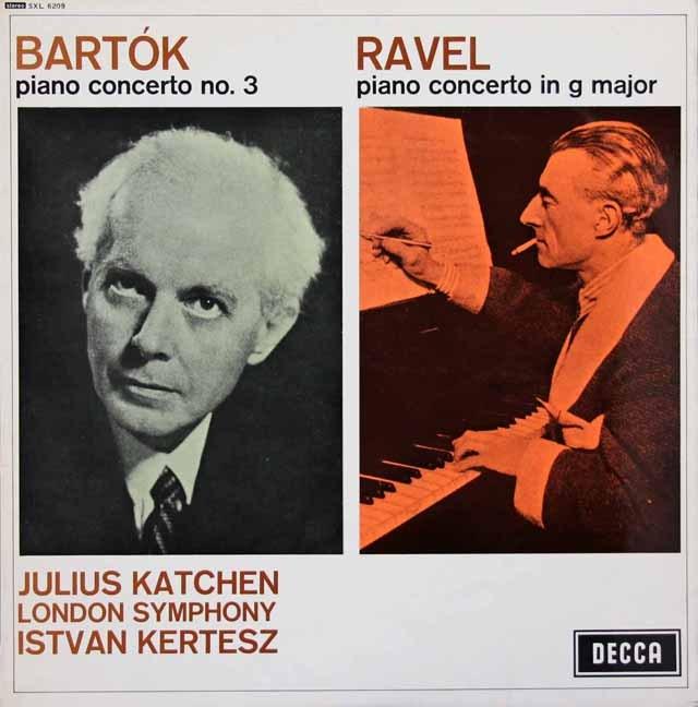 カッチェン&ケルテスのバルトーク&ラヴェル/ピアノ協奏曲集 英DECCA 3399 LP レコード