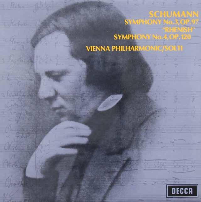 ショルティのシューマン/交響曲第3番「ライン」&第4番 英DECCA 3005 LP レコード