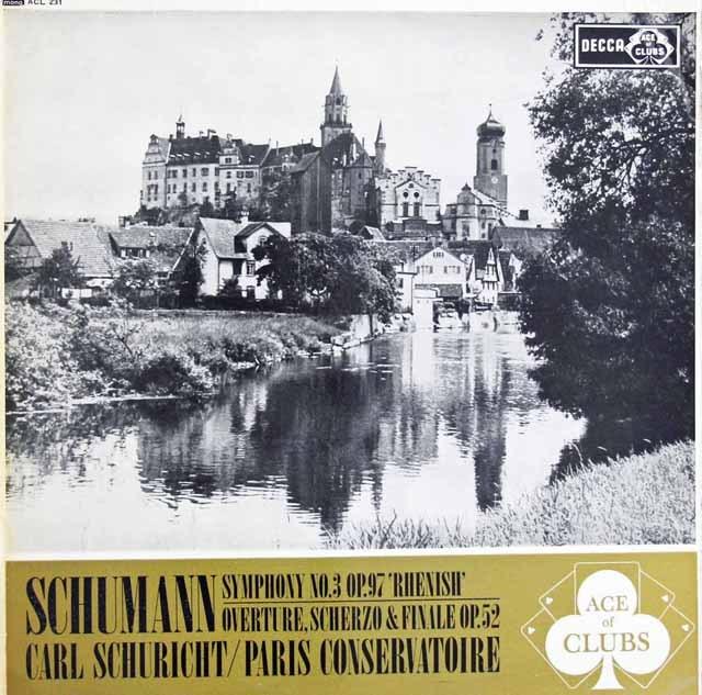 シューリヒトのシューマン/交響曲第3番「ライン」ほか 英Ace of Clubs(DECCA) 2932 LP レコード