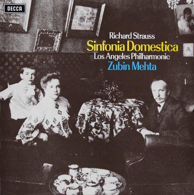 メータのR.シュトラウス/「家庭交響曲」 英DECCA 3005 LP レコード