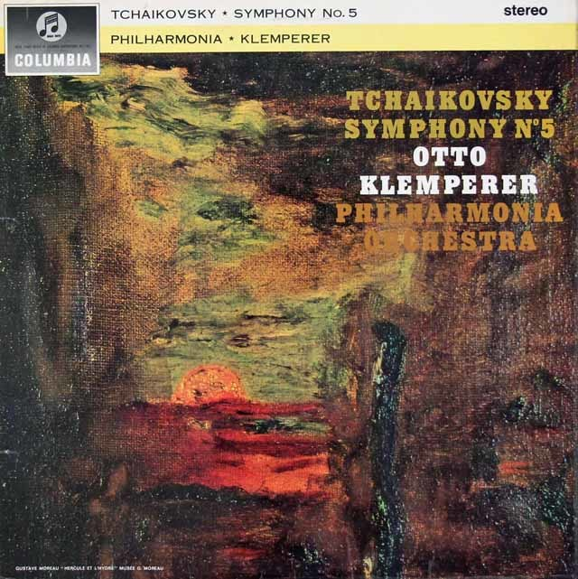 クレンペラーのチャイコフスキー/交響曲第5番 英Columbia 3034 LP レコード