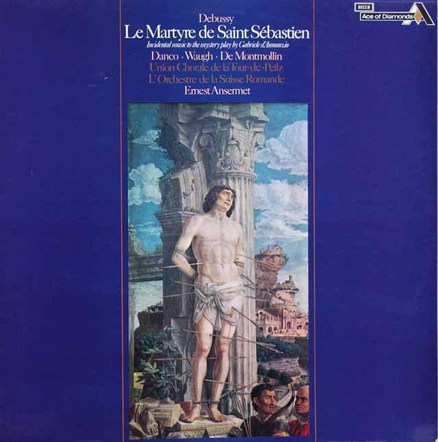 アンセルメのドビュッシー/聖セバスティアンの殉教 英Ace of Diamonds(DECCA) 3399 LP レコード