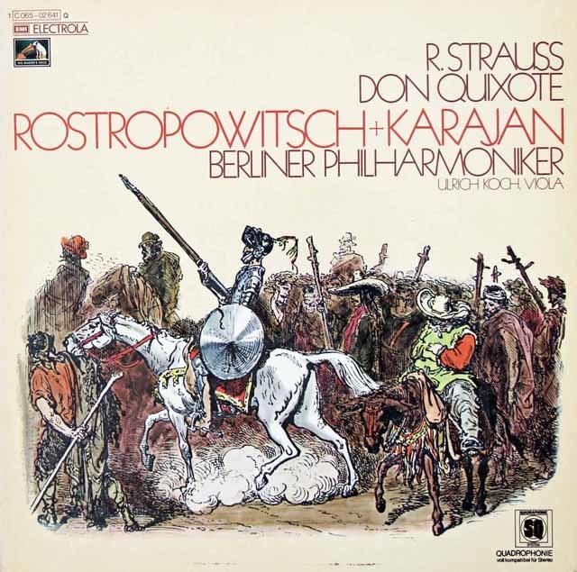 【ドイツ初版】ロストロポーヴィチ&カラヤンのR.シュトラウス/「ドン・キホーテ」 独EMI 3034 LP レコード