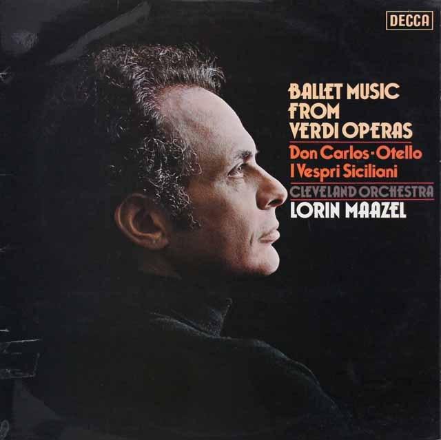 【オリジナル盤】マゼールのヴェルディ/オペラのバレエ音楽集 英DECCA 3005 LP レコード