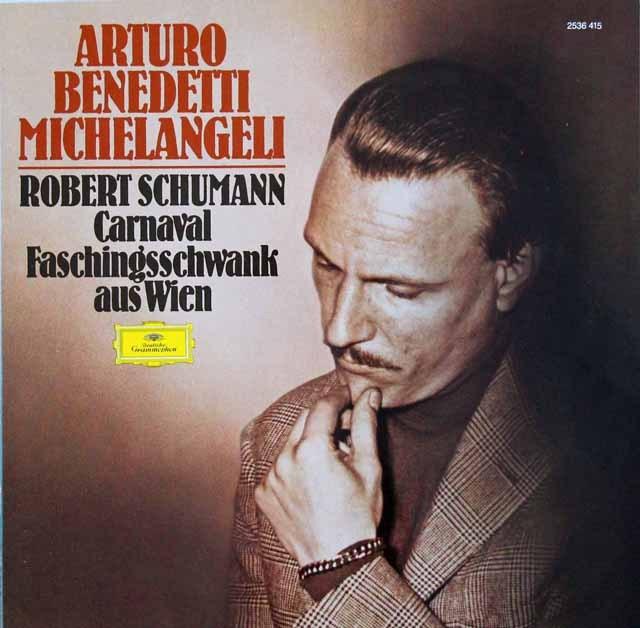 ミケランジェリのシューマン/「謝肉祭」 独DGG 3285 LP レコード