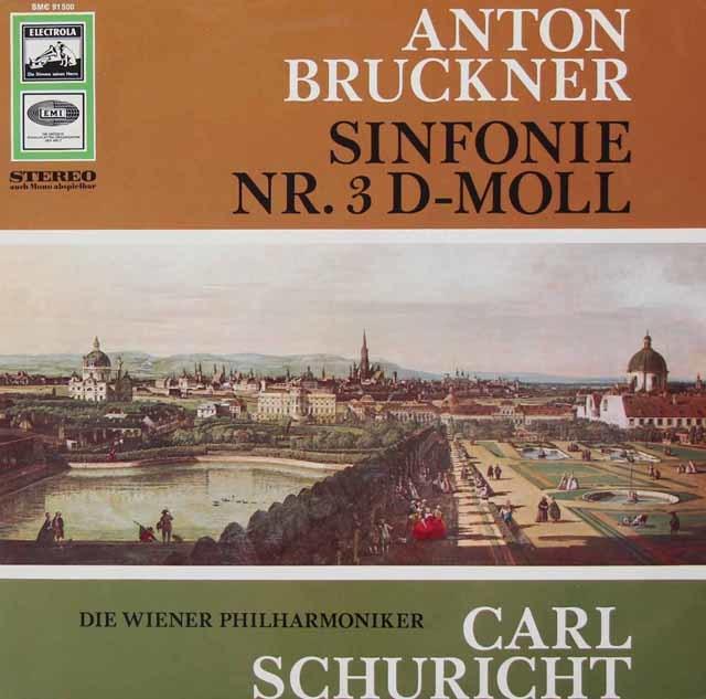 【独最初期盤】 シューリヒトのブルックナー/交響曲第3番 独EMI 3034 LP レコード
