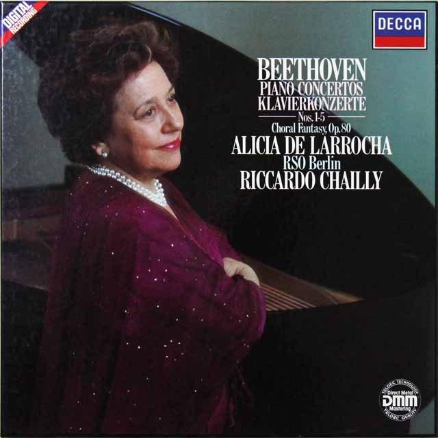 ラローチャ&シャイーのベートーヴェン/ピアノ協奏曲集 独DECCA  2702 LP レコード