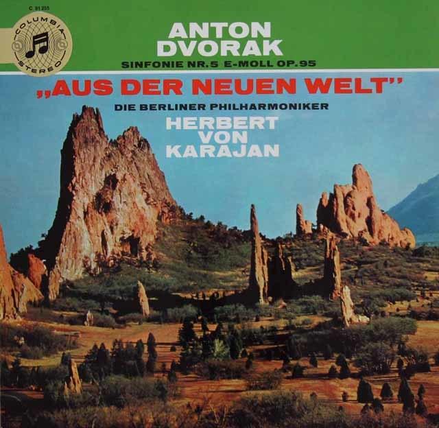 【独最初期盤】カラヤンのドヴォルザーク/交響曲第9(5)番「新世界より」 独Columbia 3034 LP レコード