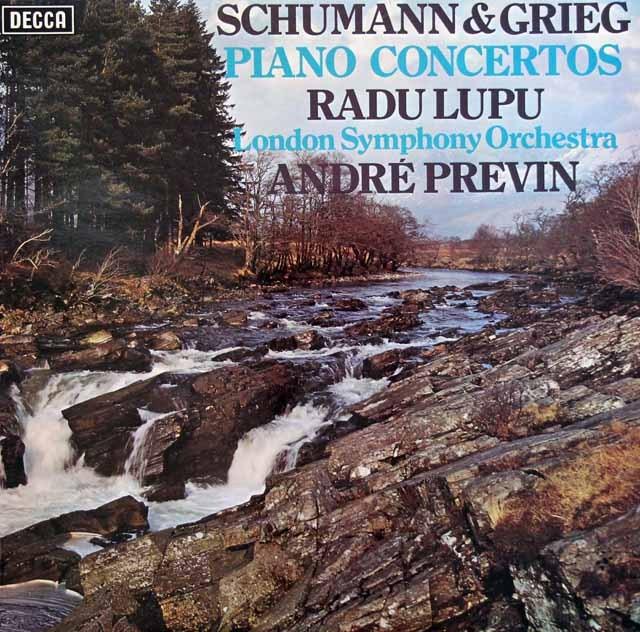 【オリジナル盤】 ルプー&プレヴィンのシューマン&グリーグ/ピアノ協奏曲集 英DECCA 3005 LP レコード