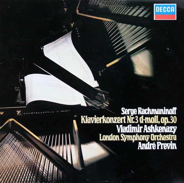 アシュケナージ&プレヴィンのラフマニノフ/ピアノ協奏曲第3番 独DECCA 3031 LP レコード
