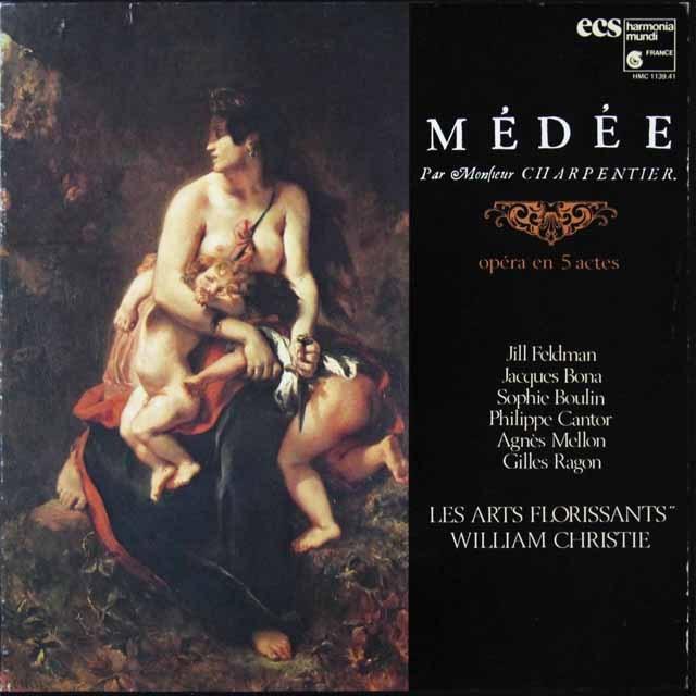 クリスティのシャルパンティエ/「メデア」全曲 仏HM 3221 LP レコード