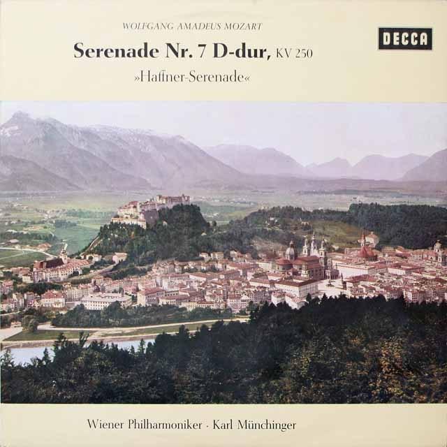 ミュンヒンガーのモーツァルト/ハフナー・セレナード 独DECCA 2616 LP レコード