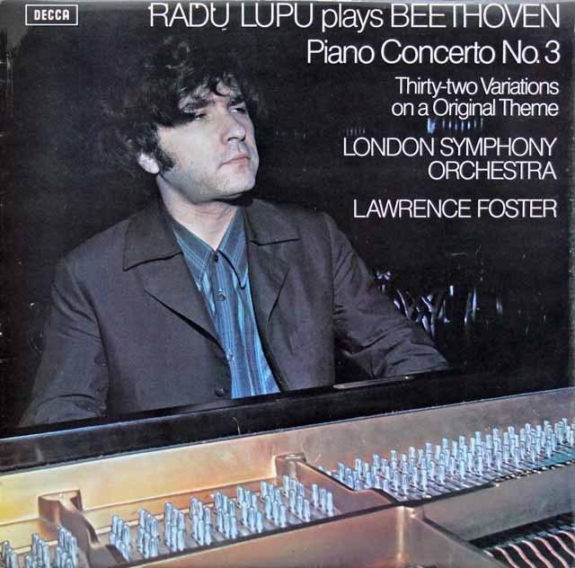 【オリジナル盤】 ルプー&フォスターのベートーヴェン/ピアノ協奏曲第3番ほか 英DECCA 3005 LP レコード