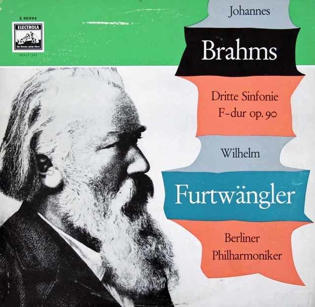 【ドイツ最初期盤】 フルトヴェングラーのブラームス/交響曲第3番 独EMI 3034 LP レコード
