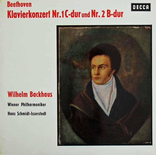 バックハウス&イッセルシュテットのベートーヴェン/ピアノ協奏曲第1&2番 独DECCA 2832 LP レコード