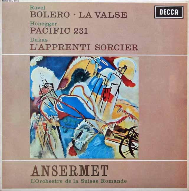 アンセルメのラヴェル/「ボレロ」ほか 英DECCA 3005 LP レコード