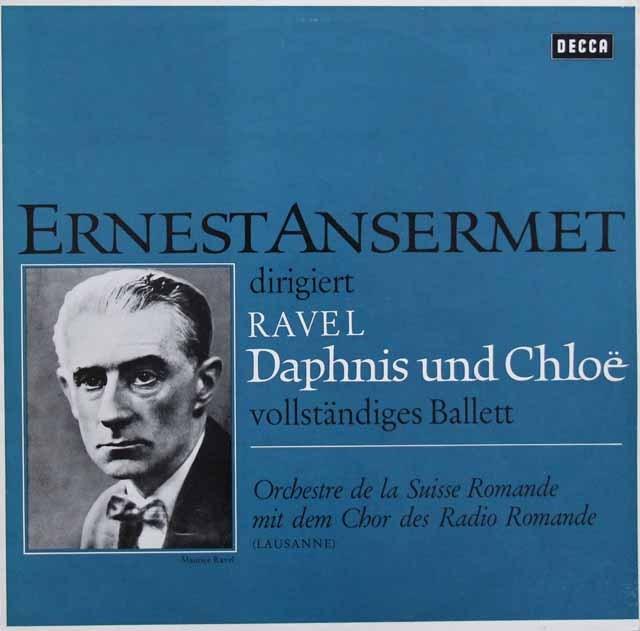アンセルメのラヴェル/バレエ「ダフニスとクロエ」全曲 独DECCA 3005 LP レコード