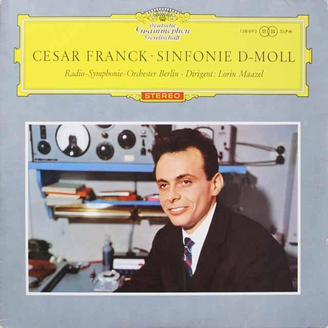 【赤ステレオ/独最初期盤】 マゼールのフランク/交響曲ニ短調 独DGG 3332 LP レコード