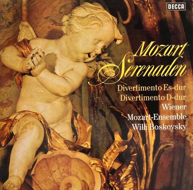 ボスコフスキーのモーツァルト/ディヴェルティメント第1&2番 独DECCA 2832 LP レコード