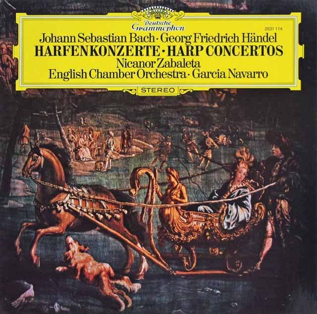 サバレタ&ナヴァロのバッハ&ヘンデル/協奏曲集 独DGG 3285 LP レコード