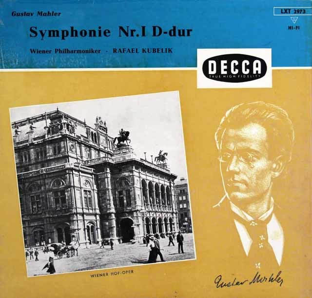 クーベリックのマーラー/交響曲第1番「巨人」 独DECCA 3031 LP レコード